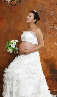 チョ・ウンスク妊娠画像