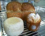 自家製レーズン酵母のマフィン・パネトーネ・えごま食パン