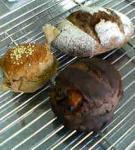 味噌パン・オレンジピールのココアパン・黒米粉のサツマイモのパン