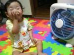 扇風機、大好きだじょ~♪