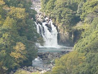 くまそ公園から滝。