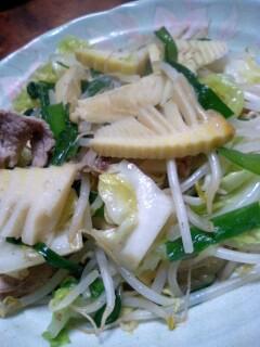 竹の子入り野菜炒め