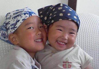 子供とバンダナ