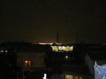 屋根からの夜景