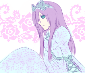 紫髪ロリータ