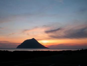 大潟浦の夕日