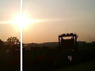 赤水門・・旧岩淵水門の朝