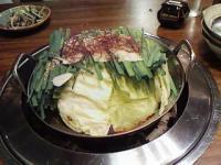 6/30 牛モツ鍋 九一麺