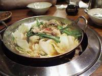 6/30 牛モツ鍋(出来上がり) 九一麺
