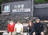 7/21 6合目長田山荘到着 みんなで記念撮影