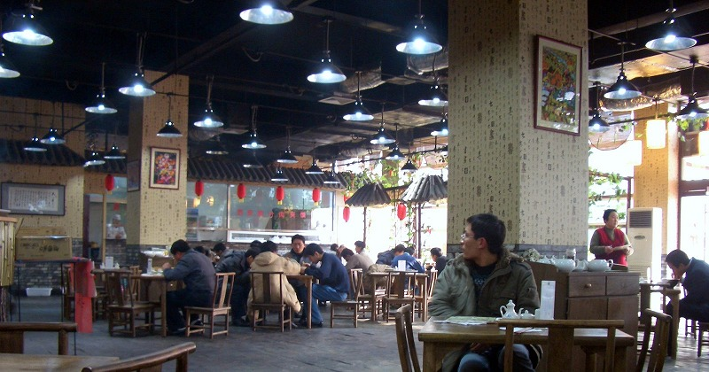 ■ 北京ハイテクタウンの社員食堂でランチ