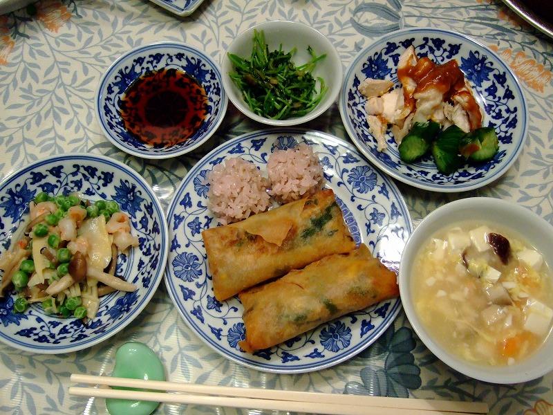 ■ 木村先生 お料理教室 中華 【2007年4月】